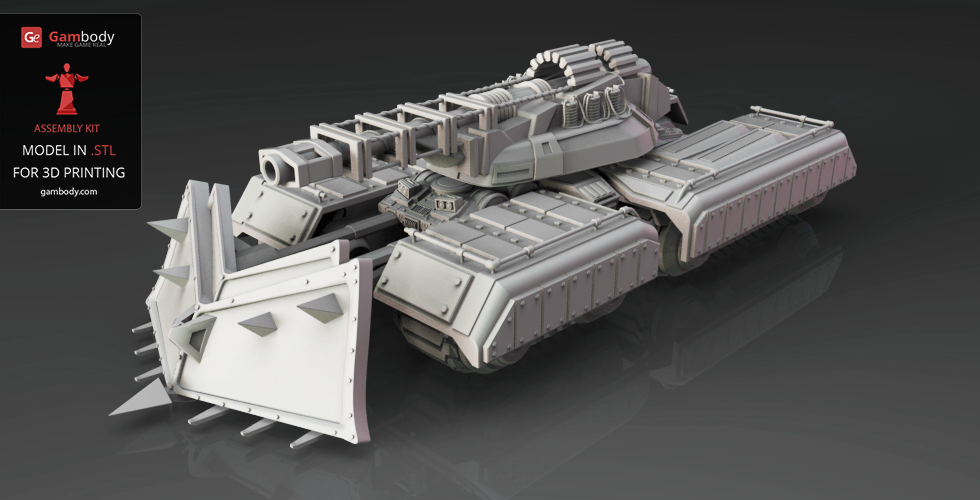 3D print mammoth tank from command & conquer
