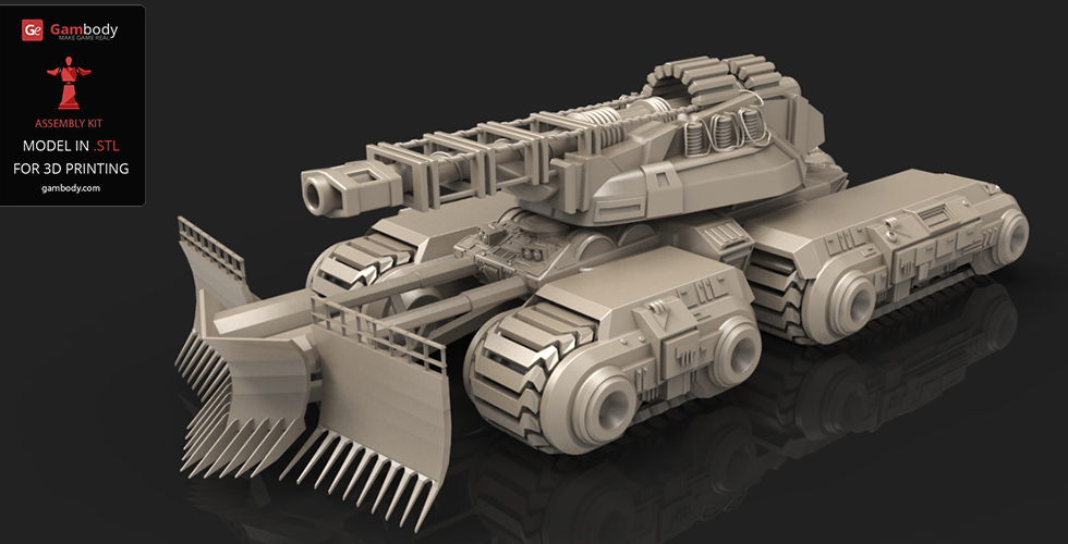 3D model of c&c mammoth tank