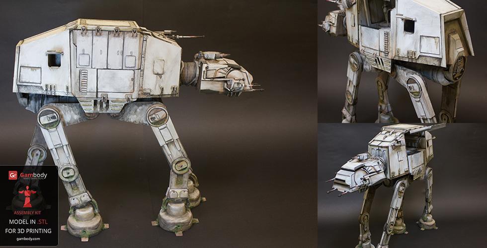 Star Wars 3D models AT-AT 3d printed