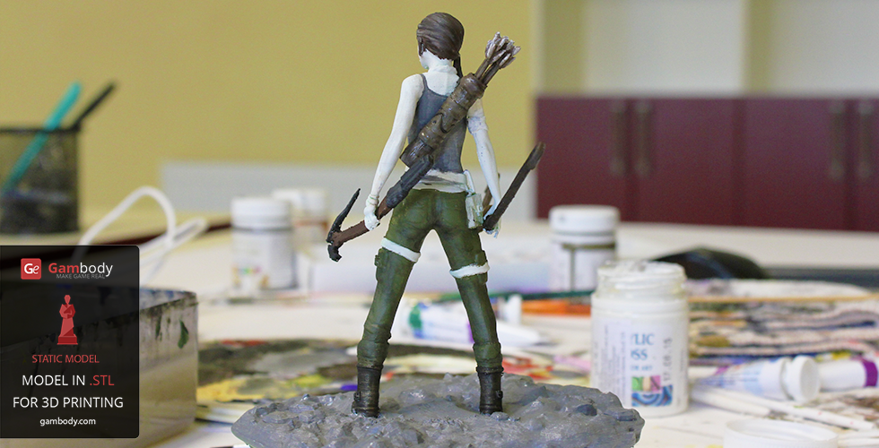 Lara Croft 3D model Painting