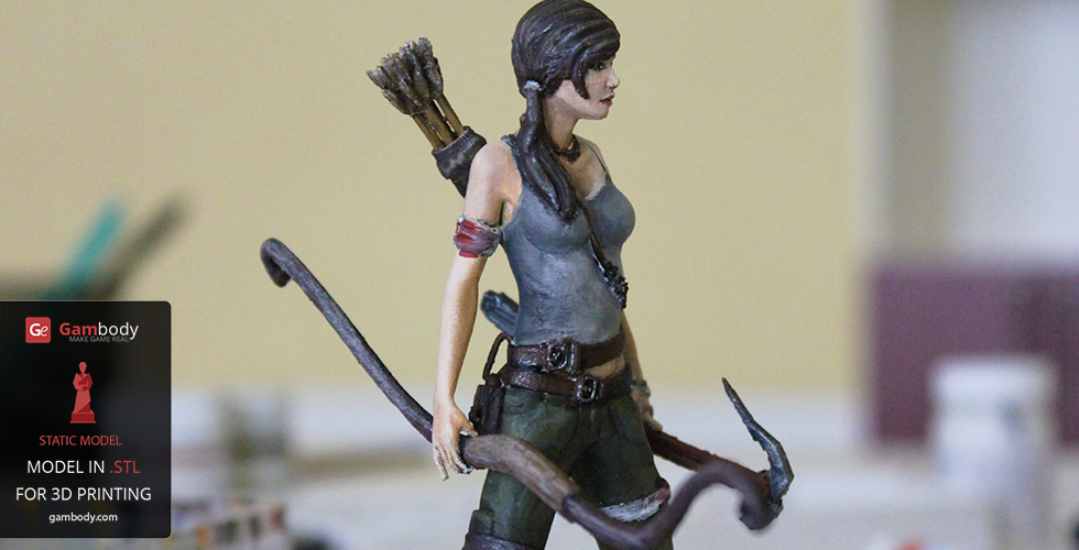 Painting Lara Croft 3D model