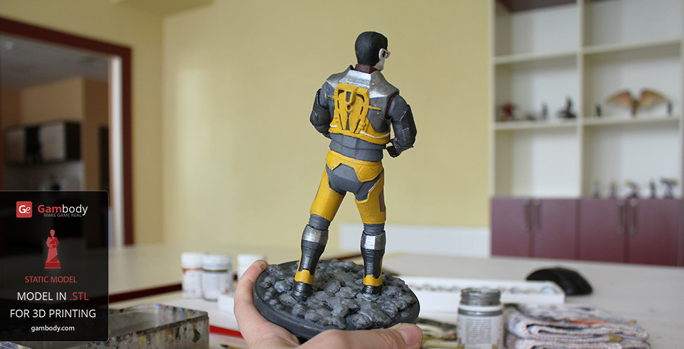 Gordon Freeman 3D model painting