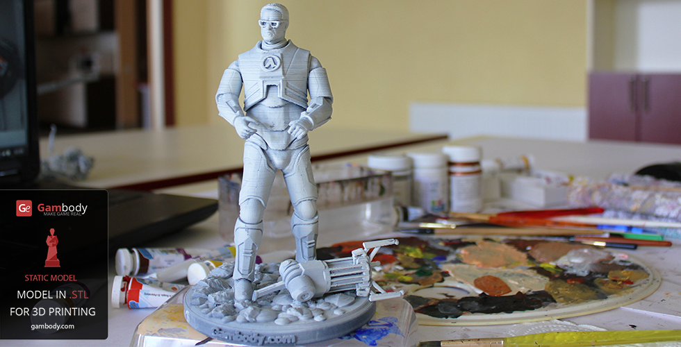 Gordon Freeman 3D print white primer