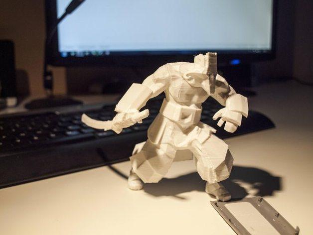 Juggernaut 3d printed model dota 2