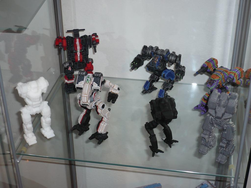 MechWarrior 3D printed figurines