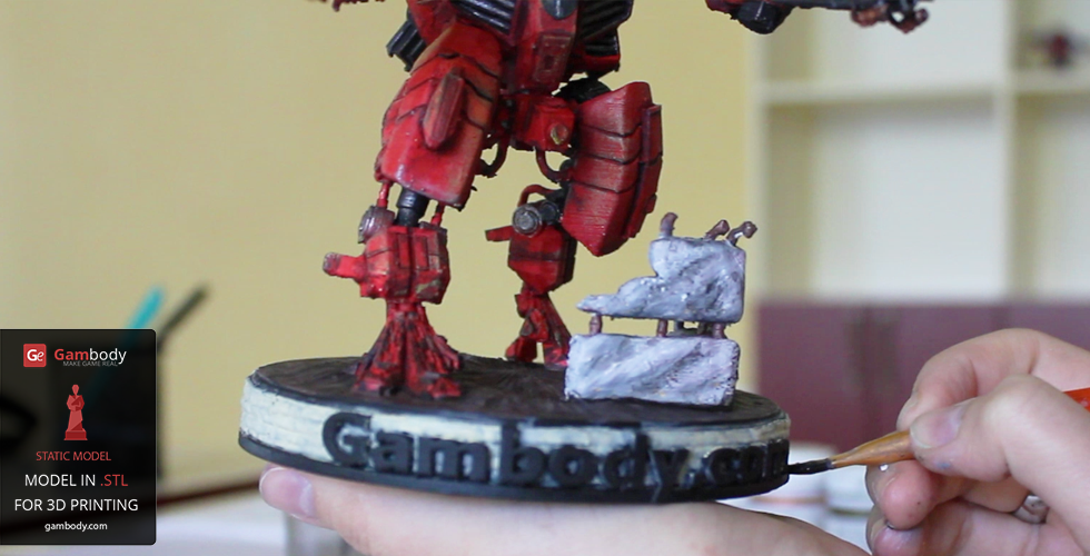 Printed and Painted TAU XV109 Y'Vahra 3D Figurine Warhammer Gambody
