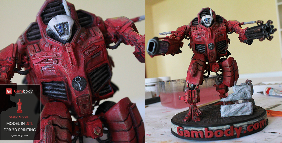 Printed and Painted TAU XV109 Y'Vahra 3D Figurine – Press Release by Gambody