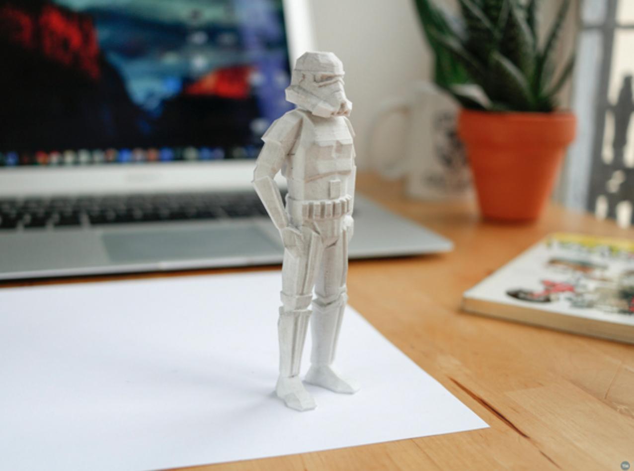 Star Wars 3D printer files of Stormtrooper