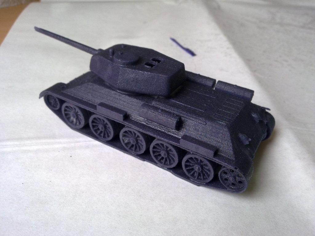 3D printed soviet tank 3d model miniature