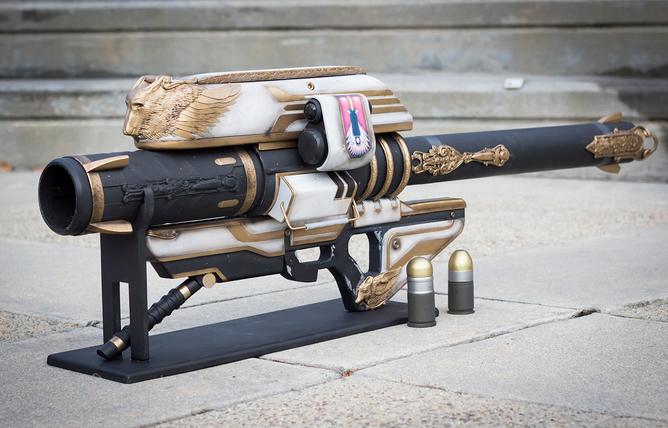 Gjallahorn 3D printed video game guns