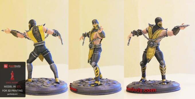 Painted MK Scorpion 3D Model – Press Release by Gambody
