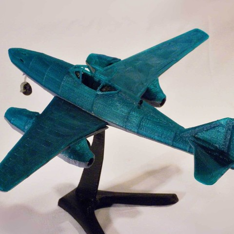 messerschmitt ME 262 airplane model for 3D printing