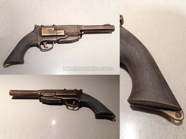 3D printed video game guns for cosplay