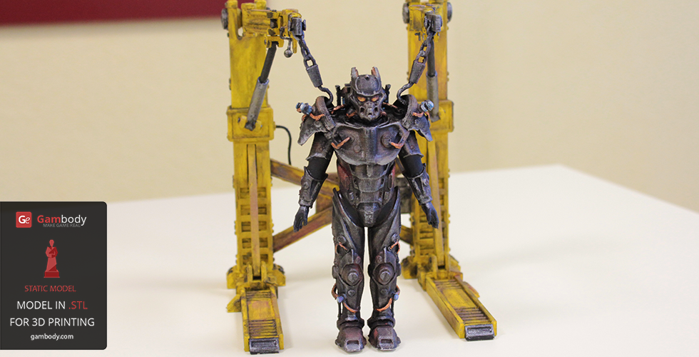 printed and painted tesla power armor 3d model press release by