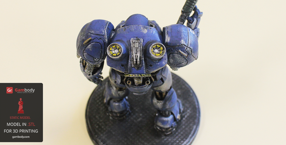 Real-life looking 3dp and painted Terran Space Marine 3D model