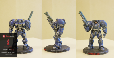 Painting StarCraft Terran Space Marine 3D Model – Press Release By Gambody