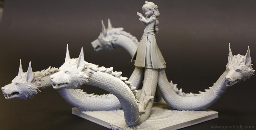 Smite 3D models Scylla 3D printed