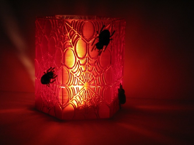 3d printed Halloween decoration candle holder