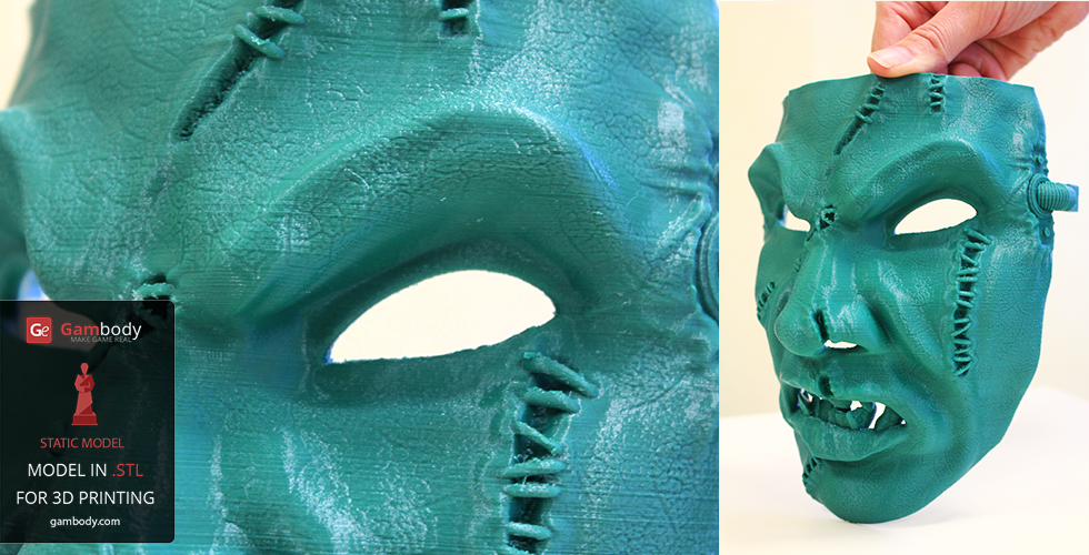 3D Printed Chaos Space Marine Mask of Warhammer Character