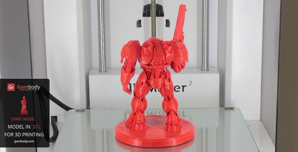 Accurately printed Terran Space Marine figurine