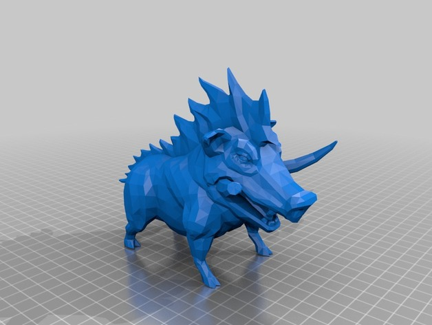 3D printing model of Artemis; boar from Smite