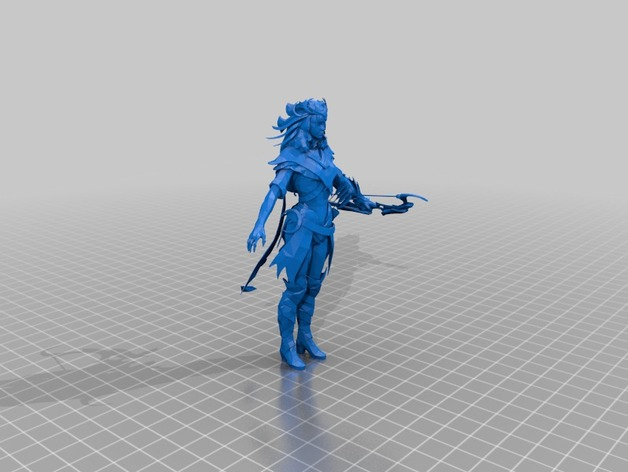 3D design of Artemis Goddess from Smite Game