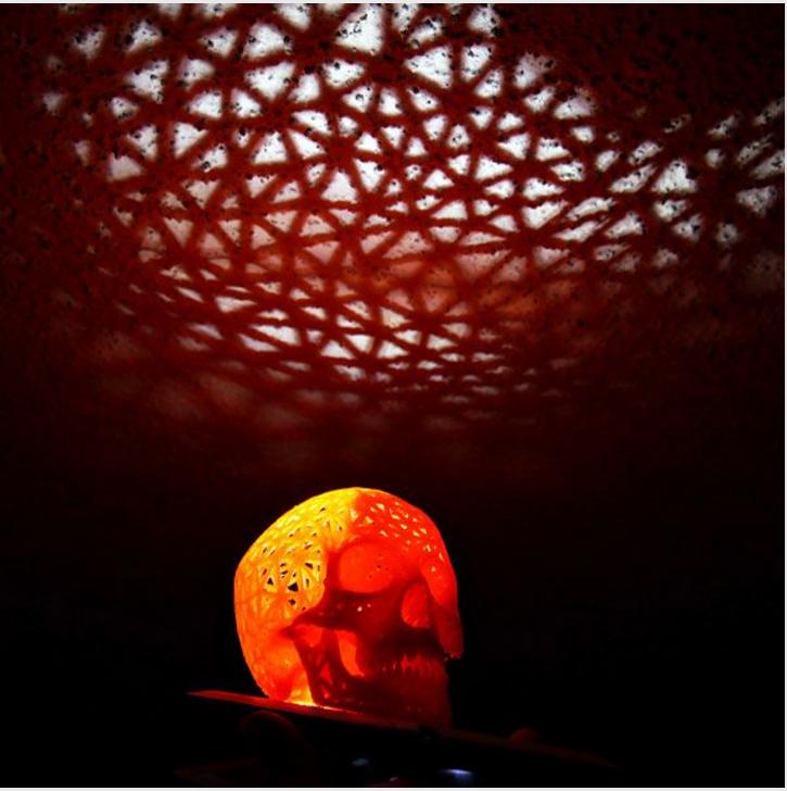 3D Printed Halloween Skull Lamp