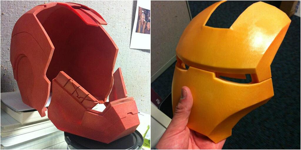 3D Printed Helmet of Iron Man