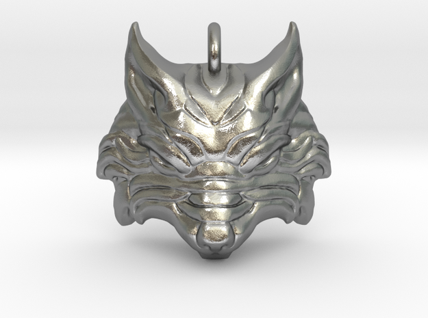 3D printed pendant of Norse Wolf from Smite Video game