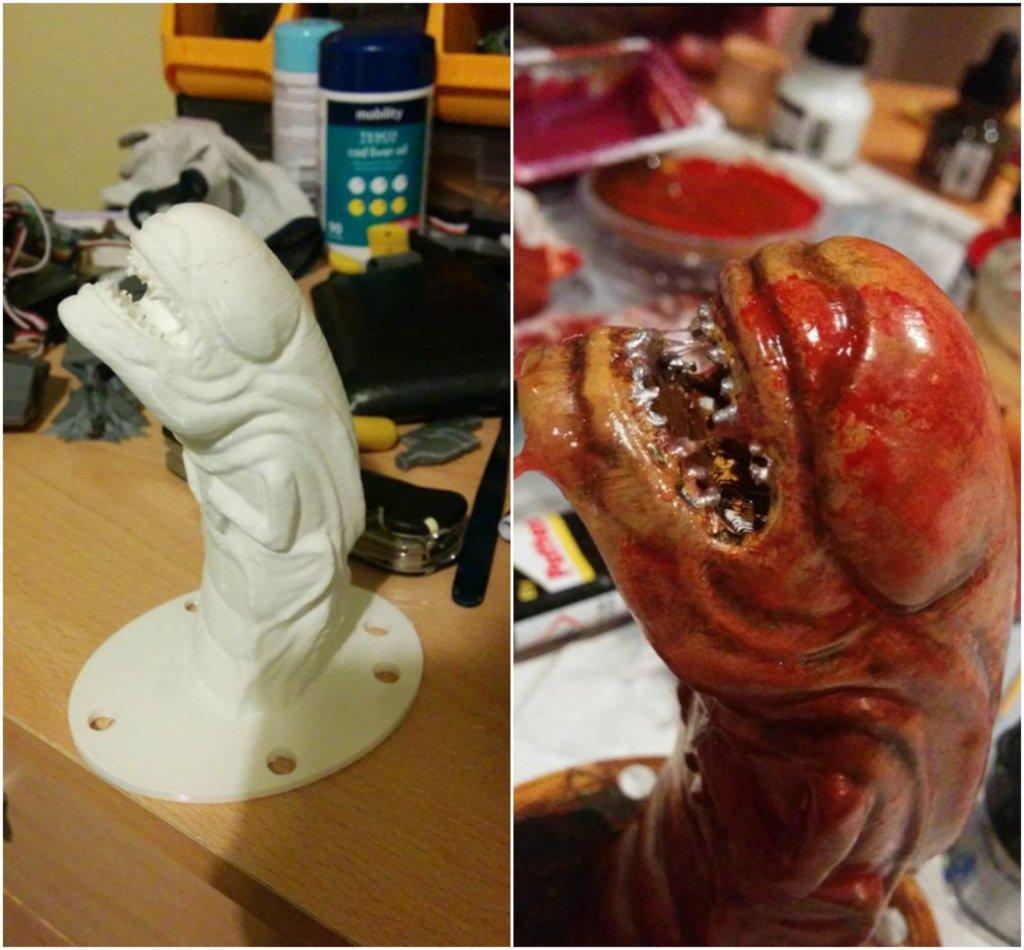 3D Printed Halloween Prop Alien Chestburster