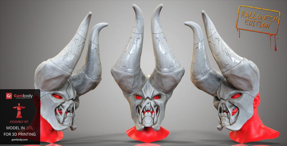 DOTA 2 3D Printing mask for Halloween