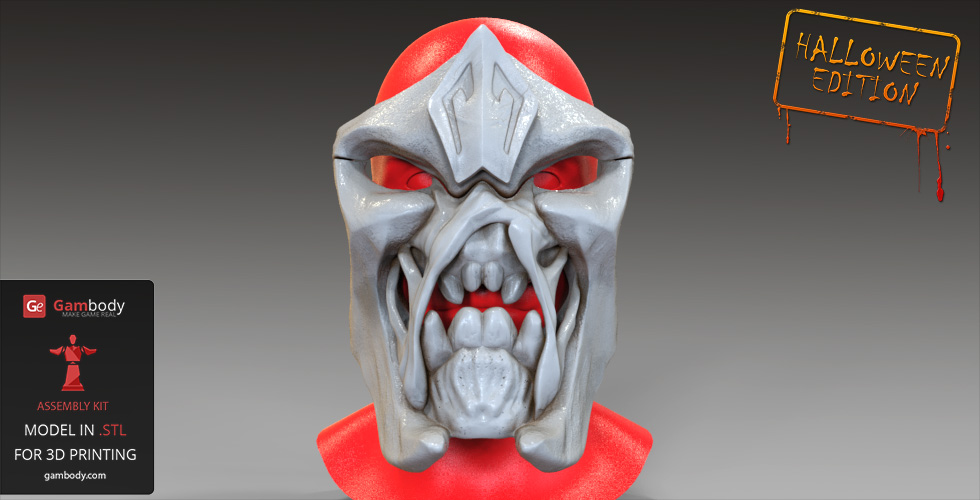 DOTA 2 Doom 3d printed mask