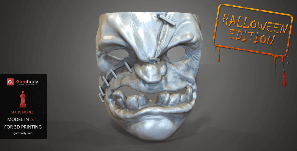 dota 2 pUDGE 3d PRINTED MASK FOR HALLOWEEN