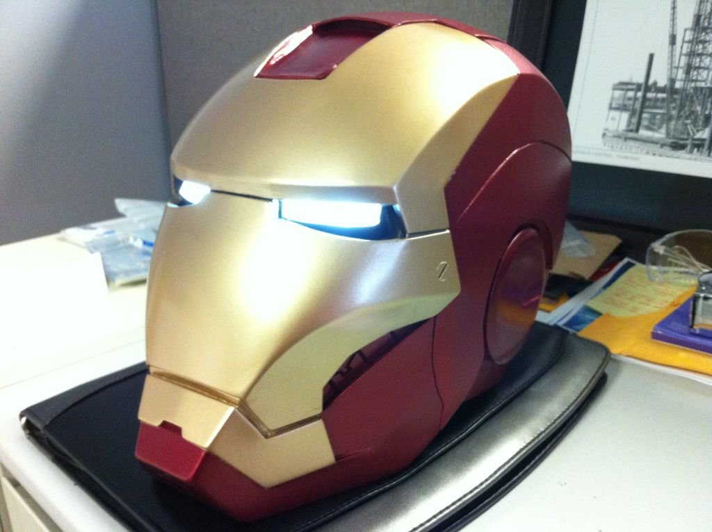 Iron Man 3D printed and painted helmet for cosplay