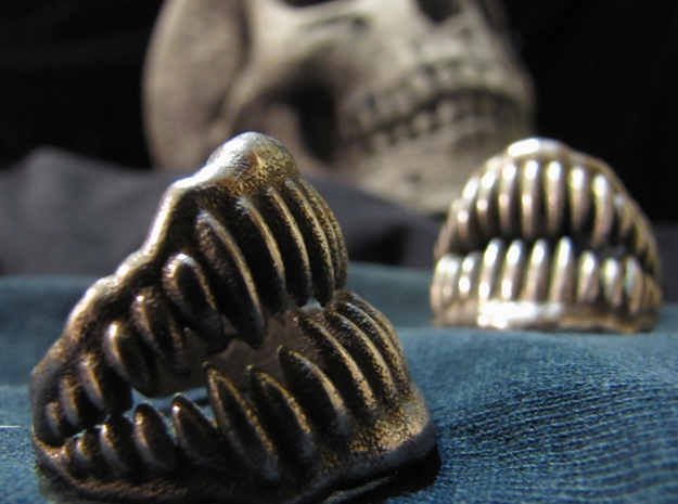 Jaw Ring 3D printed in Stainless Steel