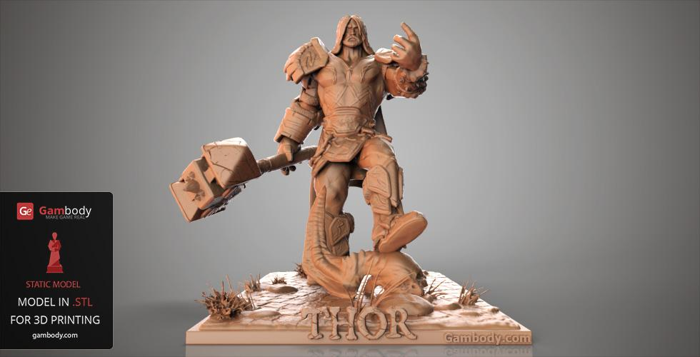Thor 3D model Smite 3D prints