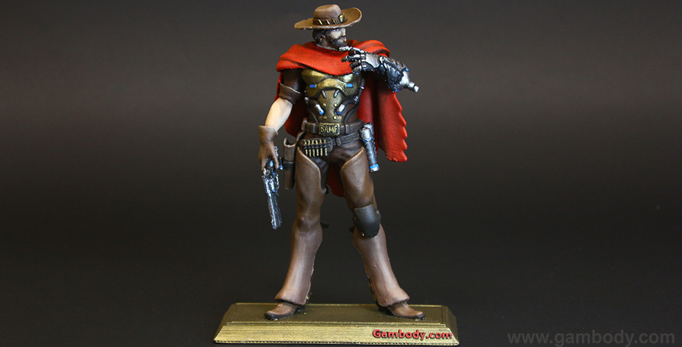 3D printed and painted Jesse McCree Overwatch