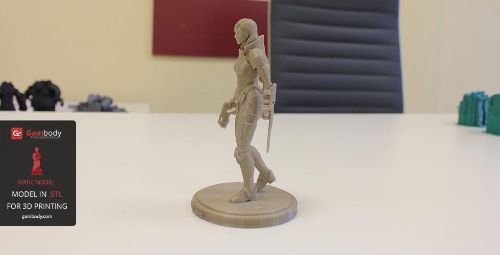 3d printed Mass Effect Female Shepard