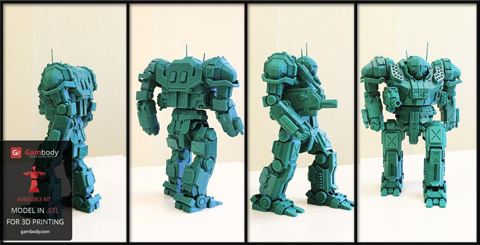 MechWarrior Atlas 3D Printed