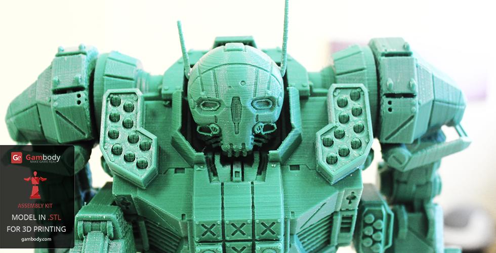 3D printed Atlas MechWarrior