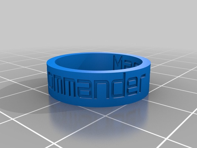 3D printed Mass Effect Commander ring