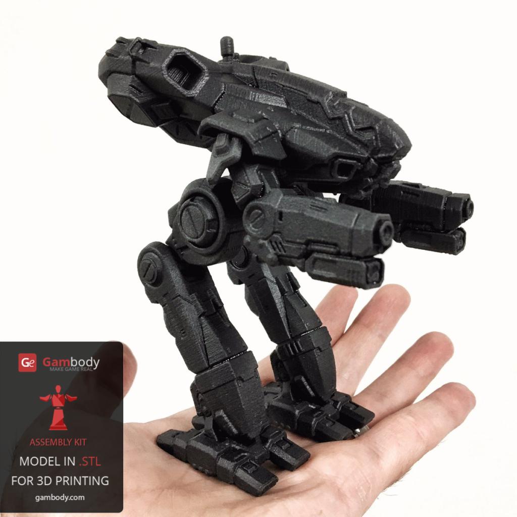 Scaled down 3D printed Marauder 3D model