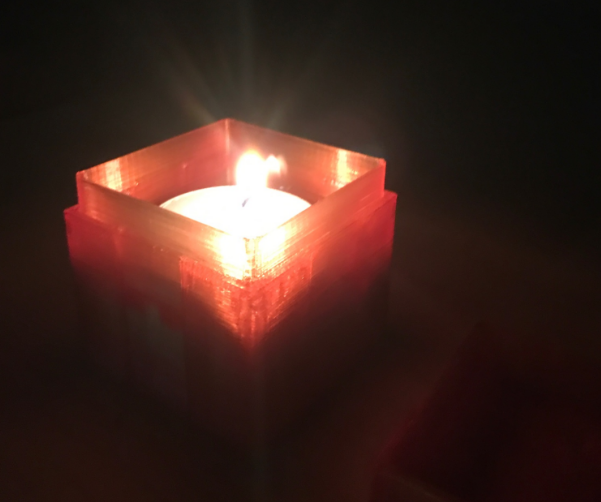 3D printed candle holder