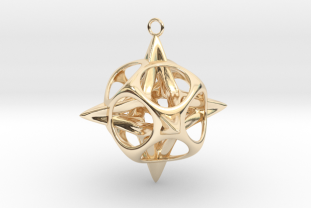 3D printed Christmas star pendant