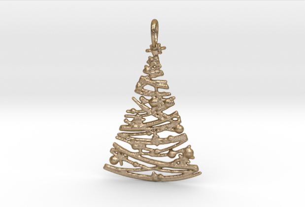3D printed Christmas tree pendant