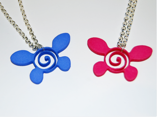 3D printed NAVI Necklace from Legend of Zelda