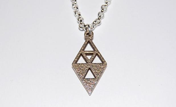 Legend of Zelda dark and light triforce necklace