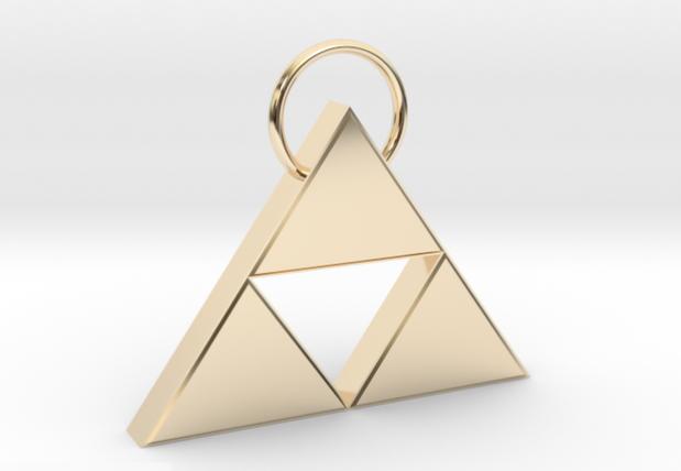 LOZ triforce 3D printed