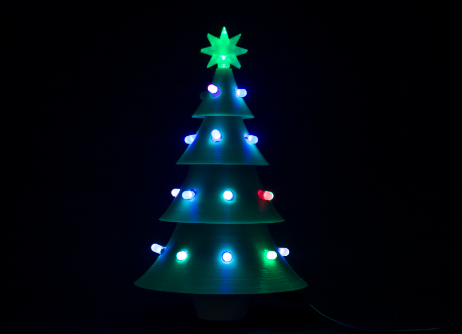3D printed Christmas Tree with LED lights