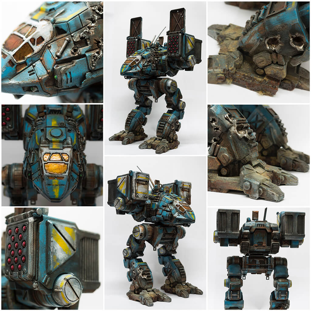 Realistic 3D printed and painted MechWarrior Catapult 3D model